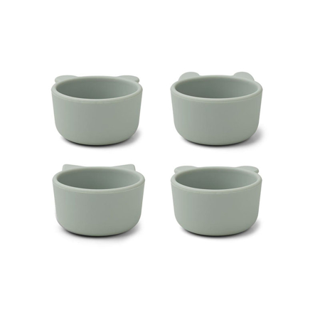 Picture of Liewood® Malene Silicone Bowl 4 Pack Dove Blue