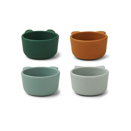 Picture of Liewood® Malene Silicone Bowl 4 Pack Green Multi Mix