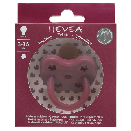 Picture of Hevea® Pacifier Orthodontic (3-36m) Ruby
