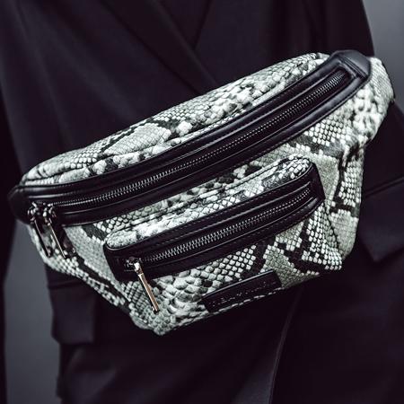 Tiba+Marl® Miko Bumbag Tonal Snake Print