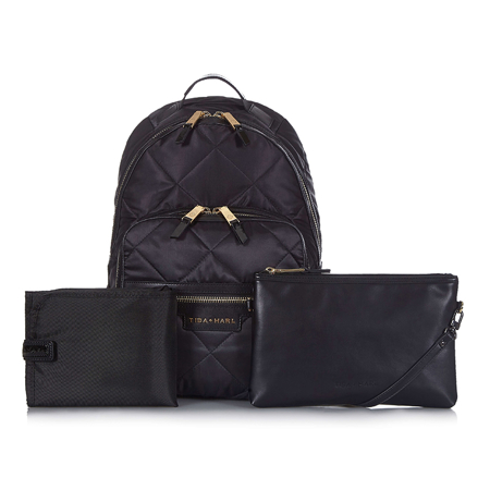 Tiba+Marl® Elwood Backpack Nylon Quilt Black