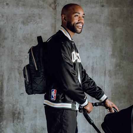 Picture of Tiba+Marl® Elwood Backpack Nylon Quilt Black