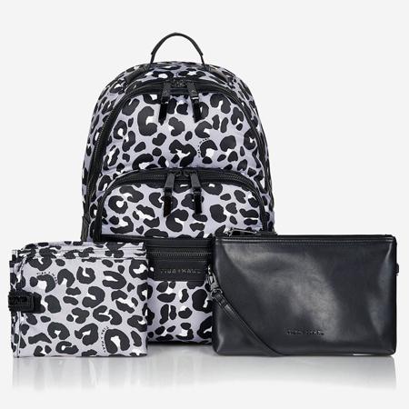 Tiba+Marl® Elwood Backpack Nylon Mono Leopard