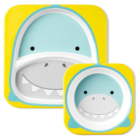 Picture of Skip Hop® Melamine Plate&Bowl Set Shark