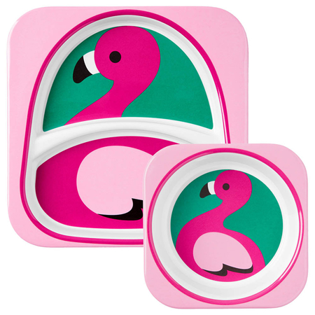Picture of Skip Hop® Melamine Plate&Bowl Set Flamingo