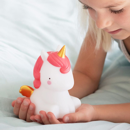 Picture of A Little Lovely Company® Little Light Unicorn - gold