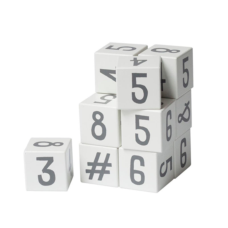 Picture of Sebra® Wooden number blocks White/Classic grey