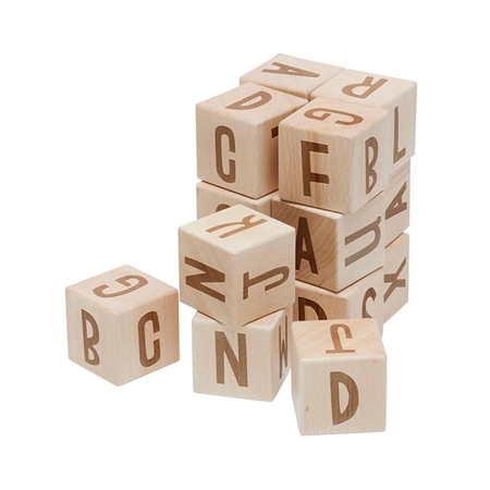 Picture of Sebra® Wooden alphabet blocks Wood