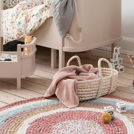 Sebra® Doll''s carry cot Sunset Pink