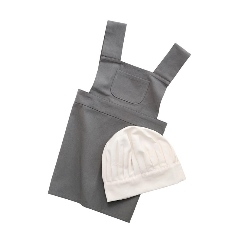 Picture of Sebra® Apron and hat set Elephant grey/Classic white