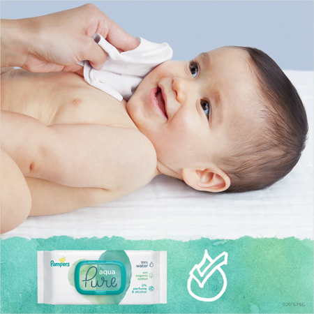 Picture of Pampers® Baby Wipes Aqua Pure Promo Pack 2x48 Pcs.
