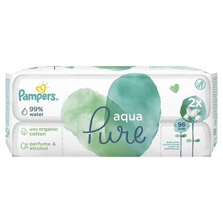 Pampers® Baby Wipes Aqua Pure Promo Pack 2x48 Pcs.