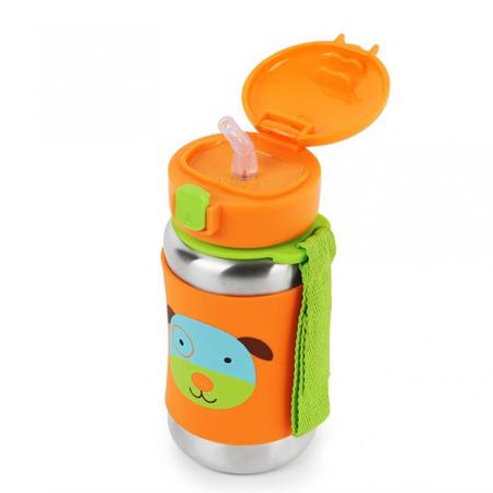 Skip Hop® Stainless Steel Kids Straw Bottle Puppy