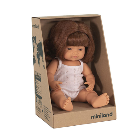 Picture of Miniland® Baby doll Redhead Girl 38cm
