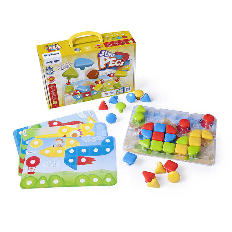 Picture of Miniland® Superpegs (32 pieces) - Bright Colors