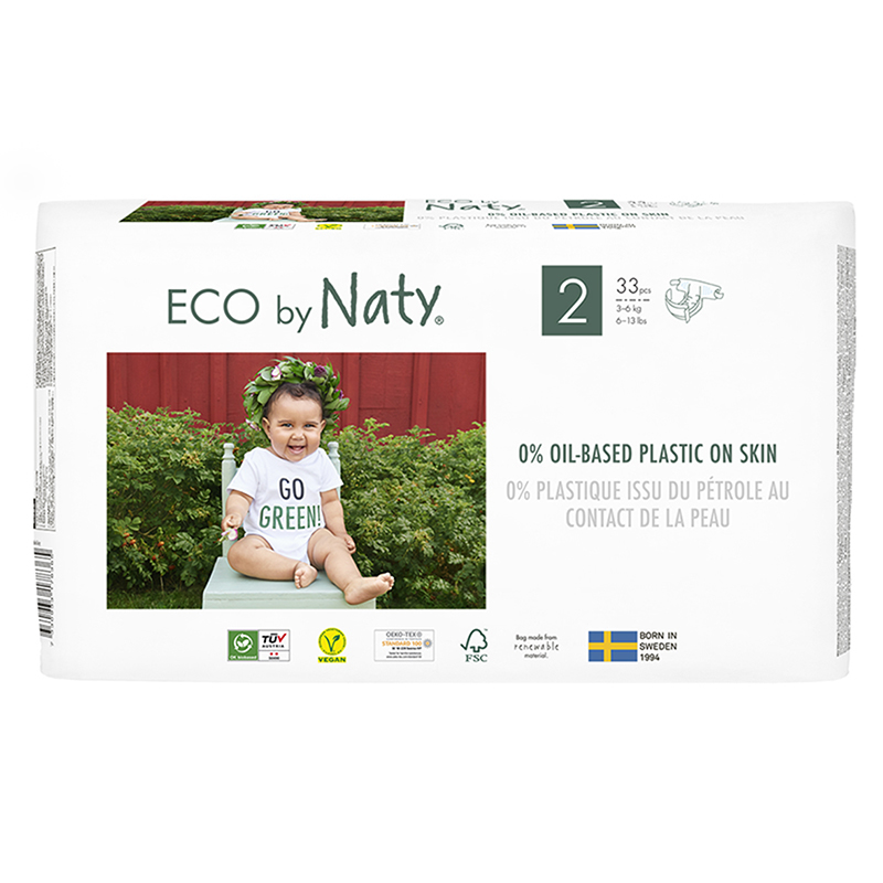 Picture of Eco by Naty® Baby Diapers Size 2 (3-6 kg) 33 pcs.
