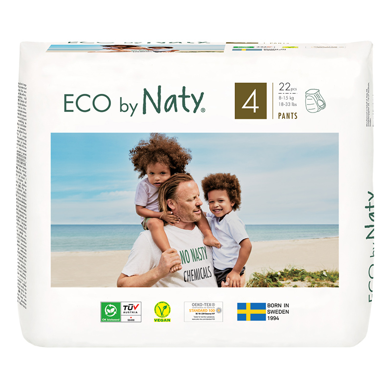 Picture of Eco by Naty® Pull on Pants Size 4 (8-15 kg) 22 pcs.