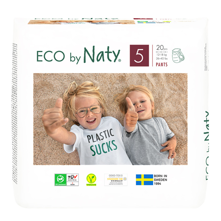 Picture of Eco by Naty® Pull on Pants Size 5 (12-18 kg) 20 pcs.