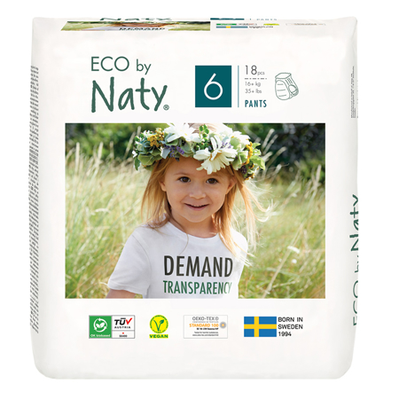 Picture of Eco by Naty® Pull on Pants Size 6 (16+ kg) 18 pcs.