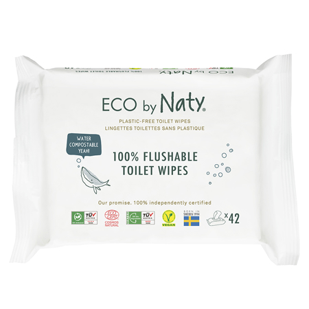 Picture of Eco by Naty® Flushable Wet Wipes 42 pcs.