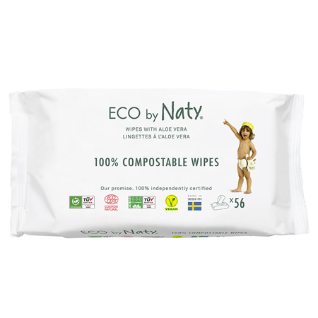 Picture of Eco by Naty® Wipes Aloe 56 pcs.