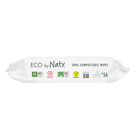 Eco by Naty® Wipes Aloe 56 pcs.