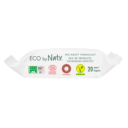 Eco by Naty® Wet Wipes Travel Pack 20 pcs.