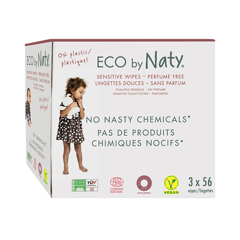 Picture of Eco by Naty® Wet Wipes Triple Pack 3x56 pcs.