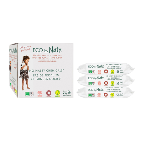 Eco by Naty® Wet Wipes Triple Pack 3x56 pcs.