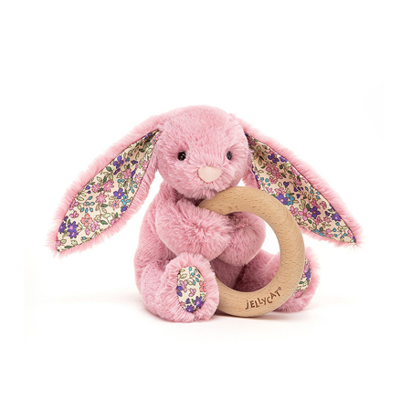 Picture of Jellycat® Blossom Tulip Bunny Wooden Ring Toy 13cm