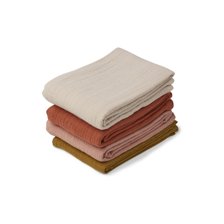 Picture of Liewood® Leon Muslin Cloth 4 Pack - Rose Multi Mix 60x60
