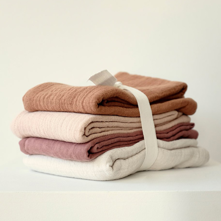 Liewood® Leon Muslin Cloth 4 Pack - Natural/Sandy Mix