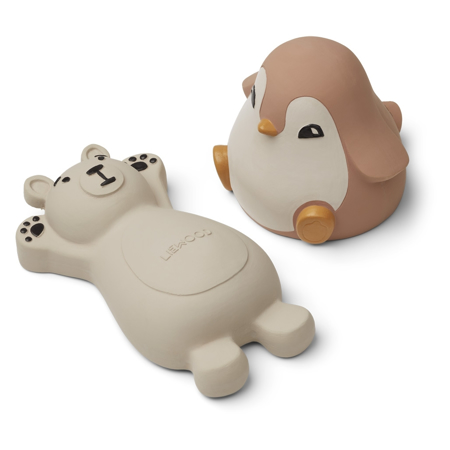 Picture of Liewood® Knud bath toys Knud Polar Bear/Penguin Rose Mix 2 pack