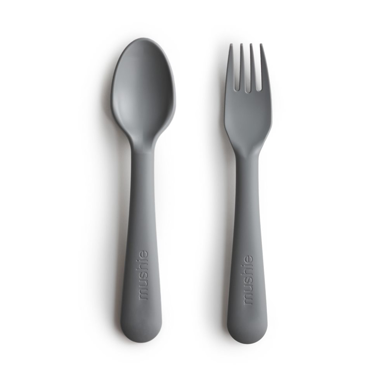 Picture of Mushie® Fork & Spoon Smoke