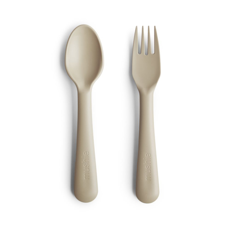 Picture of Mushie® Fork & Spoon Vanilla