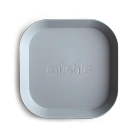 Mushie® Square Dinnerware Plate Set of 2 Cloud