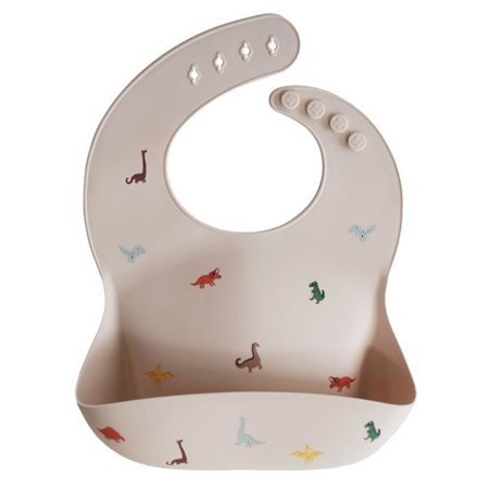 Picture of Mushie® Silicone Bib Dinosaurs