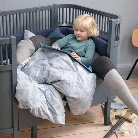 Picture of Sebra® Knitted cushion Sleepy Croc Storm Grey