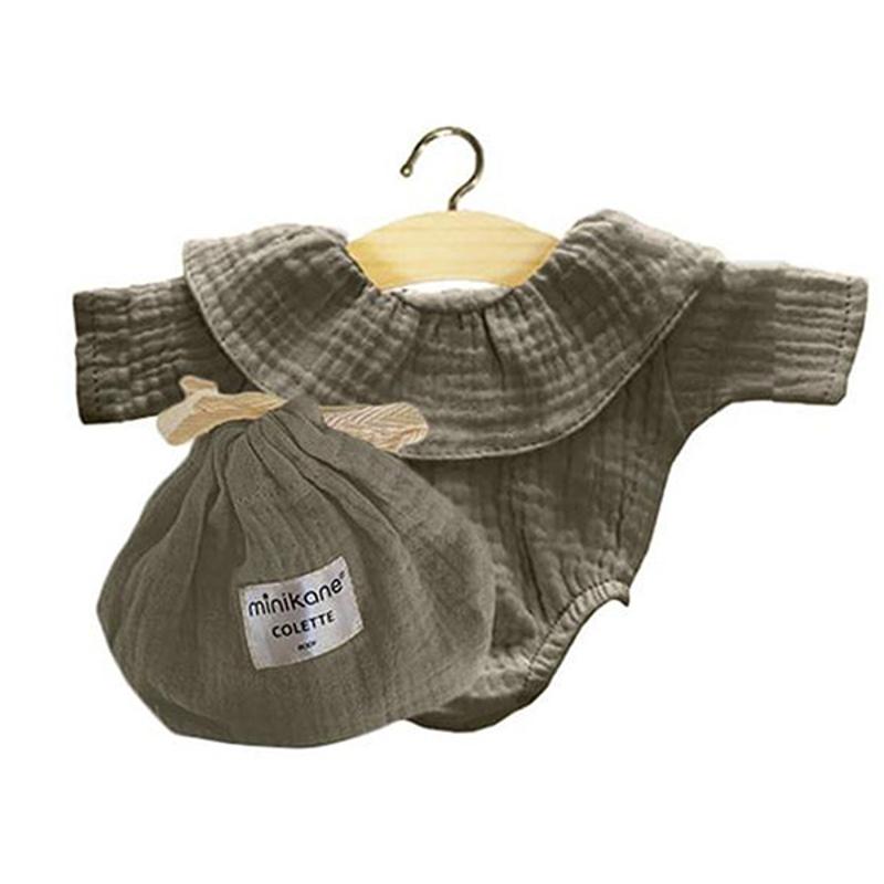 Picture of Minikane® Body Colette cotton double gauze Vert olive 34cm