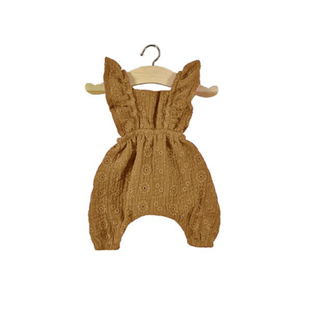 Minikane® Maya double gauze cotton Jumpsuit Camel 34cm