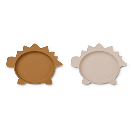 Picture of Liewood® Olivia Plate 2 Pack - Dino Rose/Mustard Mix