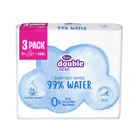 Picture of Violeta® Baby Wipes Water Care 3 x 56/1