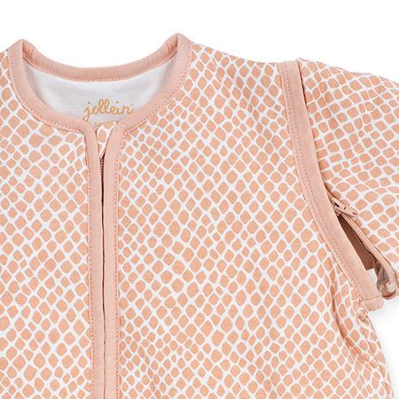 Picture of Jollein® Baby leeping ag with removable sleeves 110cm Snake Pale Pink TOG 2.0