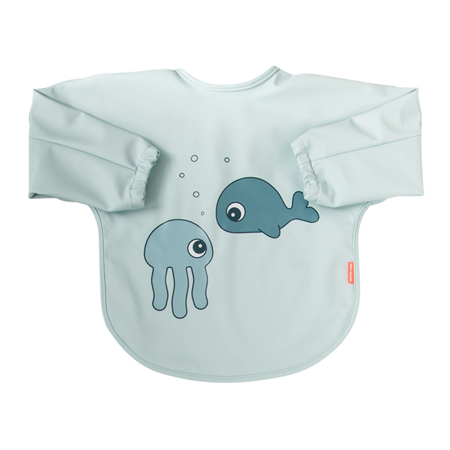 Picture of Done by Deer® Sleeved bib Sea friends Blue 6-18m