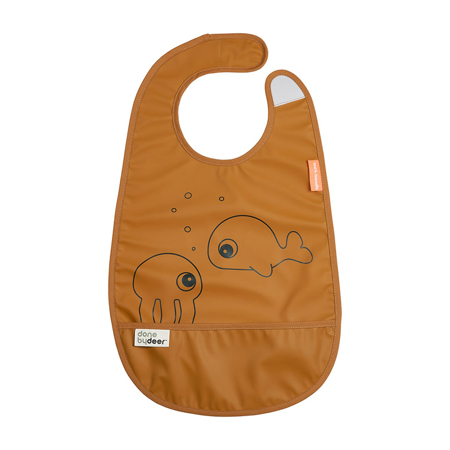 Picture of Done By Deer® Bib With Velcro Sea friends Mustard