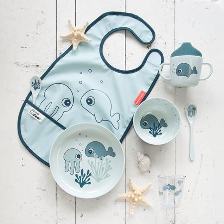 Done By Deer® Bib With Velcro Sea friends Blue