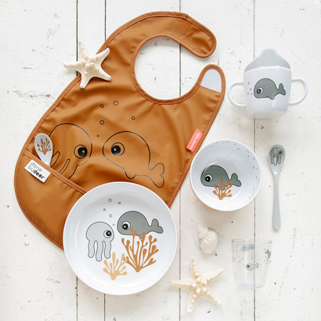 Done By Deer® Bib With Velcro Sea friends Mustard