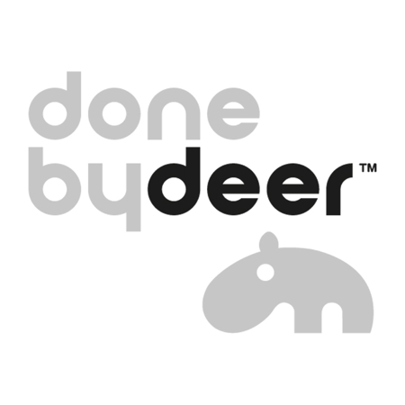 Picture of Done by Deer® Burp cloth 3-pack Deer friends Green 70x70