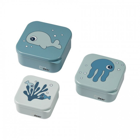 Picture of Done By Deer® Snack Box Set 3-Pcs Sea friends Blue