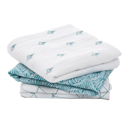 Picture of Aden+Anais® Muslin Squares 3-Pack Paisley (70x70)